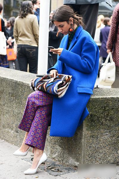 廓型呢子大衣型格搭配