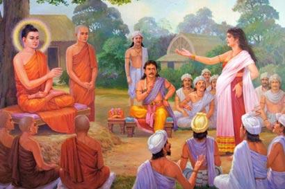 风月女子被人挑唆,假装怀孕诬陷佛陀。(图片来源:资料图片)