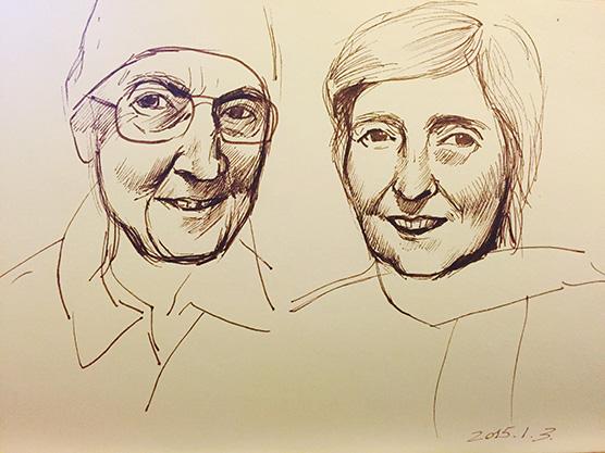 老奶奶手绘头像