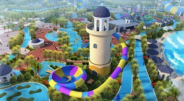 泸州云龙水上乐园官网_水上乐园效果图图片