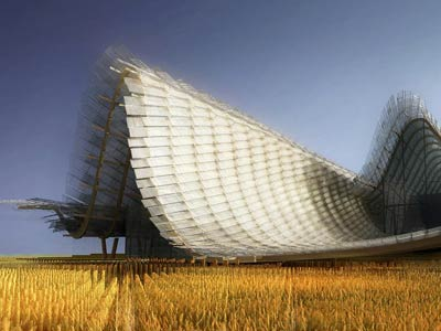 世博会中国馆主体结构完工