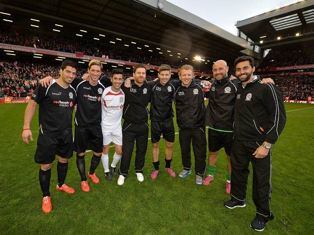 Liverpool captain Steven Gerrard held a charity match on Sunday. The game, organized to raise funds for the Liverpool FC foundation, was seen as a farewell from Gerrard who decided to leave the team he