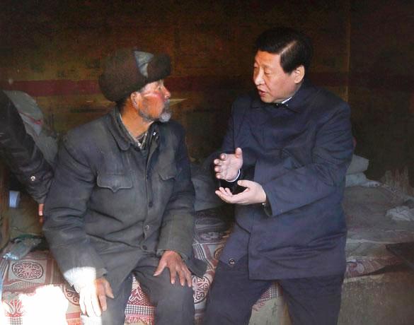 2013年2月2日至5日,在蛇年春节到来之际,习近平来到甘肃,看望慰问各族干部群众,并向全国各族人民表达美好的新春祝福。