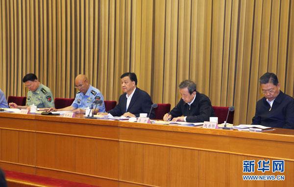 6月7日,2016年全国军队转业干部安置工作会议在北京举行。会议传达了中共中央总书记、国家主席、中央军委主席习近平关于深化国防和军队改革期间军队转业干部安置工作的重要讲话,对学习贯彻讲话精神,做好军队转业干部安置工作作出部署。中共中央政治局常委、中央书记处书记刘云山出席会议并讲话。 新华社记者 李刚 摄
