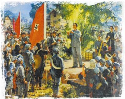 油画《步调一致才能得胜利》 彭彬、何孔德、高虹作