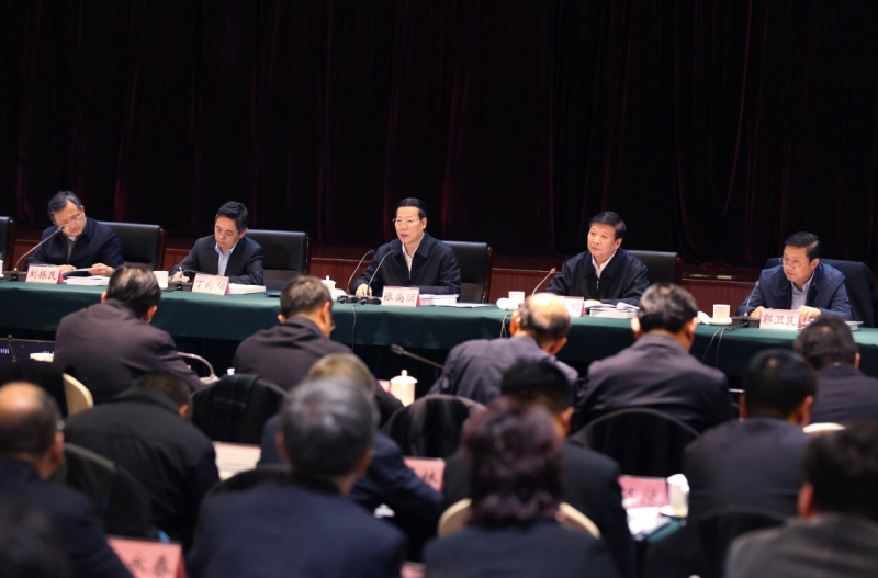 11月22日,中共中央政治局常委、国务院副总理张高丽在北京主持召开全国地理国情普查领导小组全体会议并讲话。