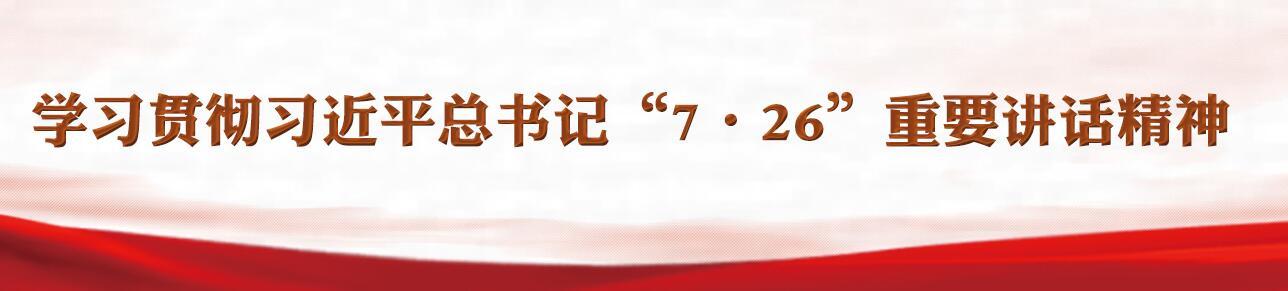 """学习贯彻习近平总书记""""7·26""""重要讲话精神"""