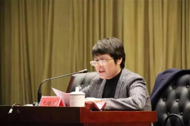 米培莲围绕党的十九大为泰山区基层妇联干部作专题辅导报告