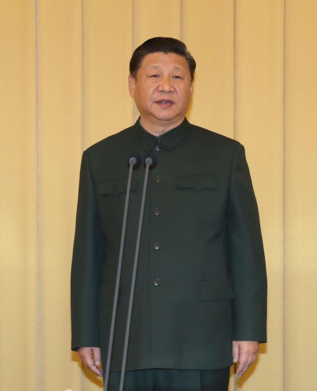 1月10日,中央军委向武警部队授旗仪式在北京八一大楼举行。中共中央总书记、国家主席、中央军委主席习近平向武警部队授旗并致训词。这是习近平致训词。