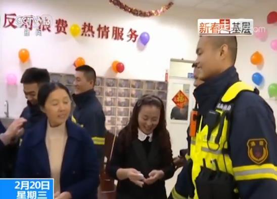 新春走基层 消防员 元宵节
