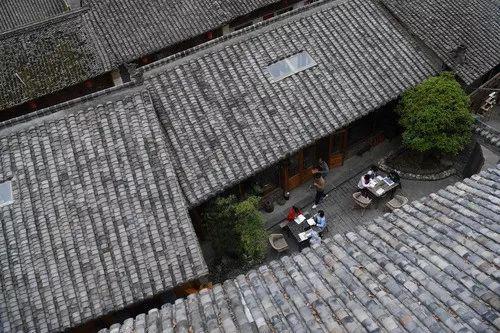 留坝县城老街一角(资料)。记者陶明摄