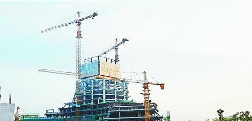 建设初期的诚毅国际商务中心。