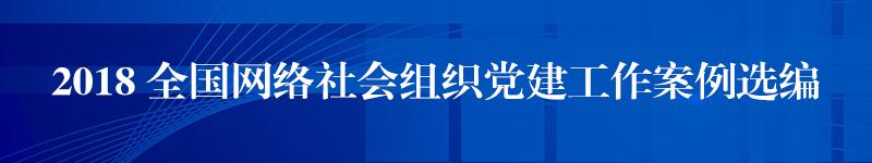 专栏:2018 全国网络社会组织党建工作案例选编