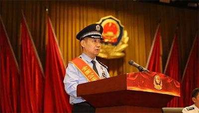 """2018年,张保国被授予""""全国公安系统一级英雄模范""""称号"""
