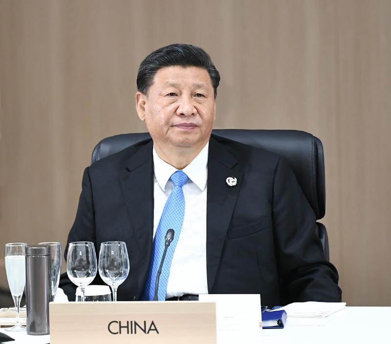 6月28日,二十國集團領導人第十四次峰會在日本大阪舉行。國家主席習近平出席并發表題為《攜手共進,合力打造高質量世界經濟》的重要講話。新華社記者 謝環馳 攝