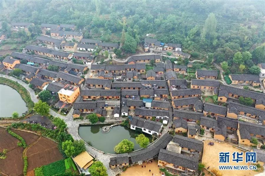 这是9月18日无人机拍摄的河南新县田铺乡田铺大塆。