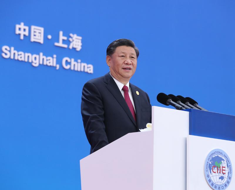 11月5日,第二届中国国际进口博览会在上海国家会展中心开幕。国家主席习近平出席开幕式并发表题为《开放合作 命运与共》的主旨演讲