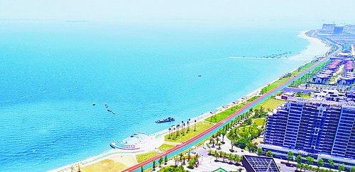 環東海域濱海旅游浪漫線為同安新城增添魅力。(本組圖/路橋體育集團 提供)