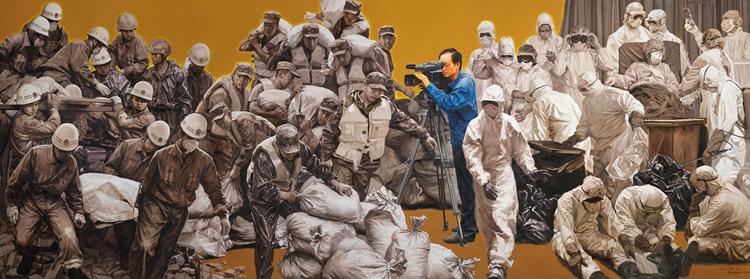《伟大时代的记录者——高思杰》 张志坚、刘海洋、李卓 油画