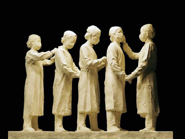《友愛》熊文穎 林印吉  雕塑