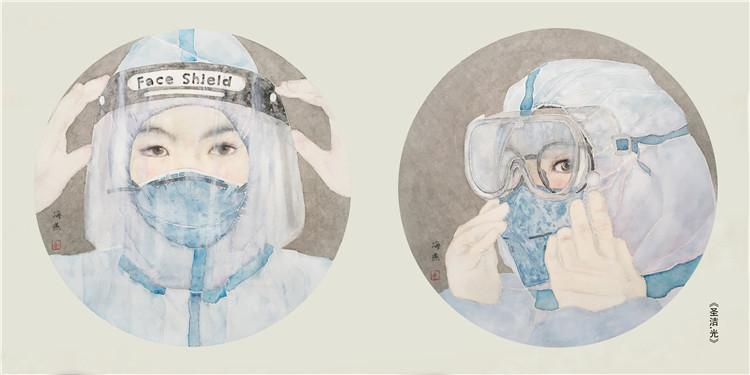 《圣洁·光》 唐海燕  中国画
