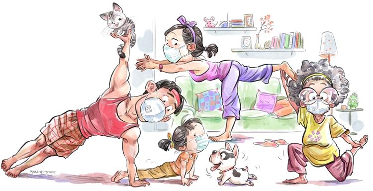 《宅家健身》李昊    漫畫