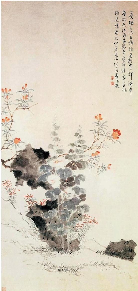 明 陸治 端陽即景圖 133.2×64.3cm 上海博物館藏