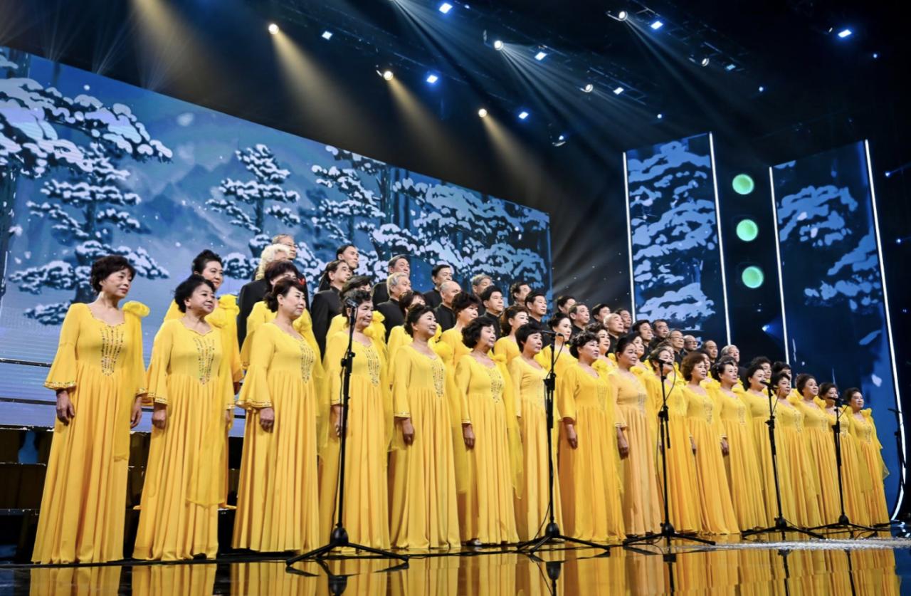 北京北大荒合唱团集体亮相