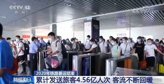 客流回暖 2020年铁路暑运累计发送旅客4.56亿人次