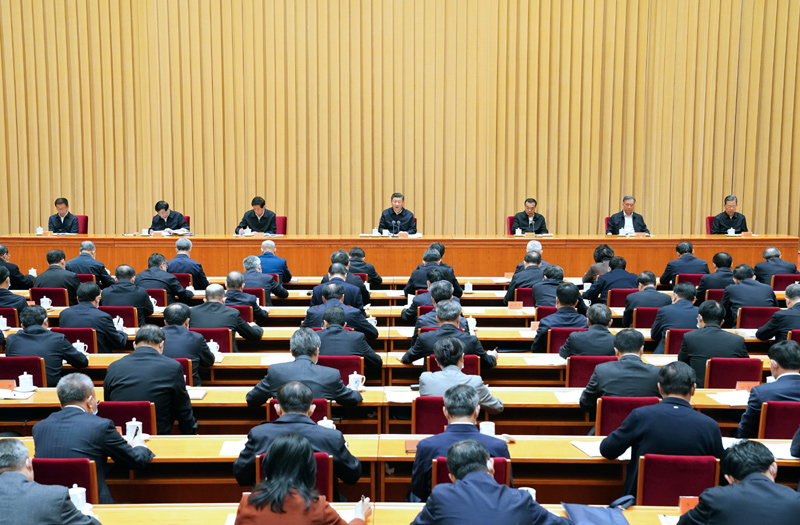 11月16日至17日,中央全面依法治国工作会议在北京召开。中共中央总书记、国家主席、中央军委主席习近平出席会议并发表重要讲话。新华社记者 饶爱民 摄