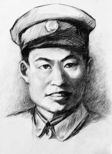 """△红军第5军团34师师长陈树湘,2009年被评选为""""100位为新中国成立做出突出贡献的英雄模范人物和100位新中国成立以来感动中国人物""""。"""