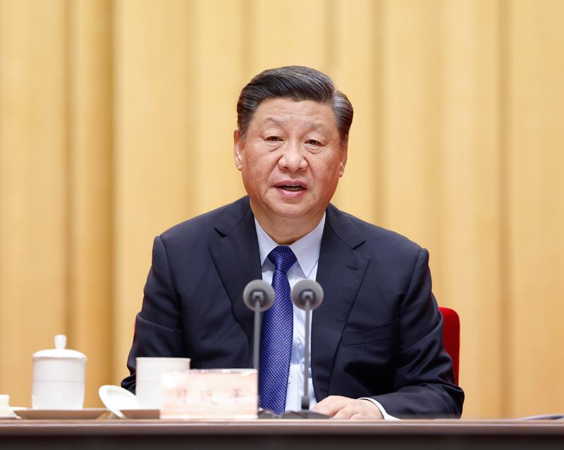 2月20日,黨史學習教育動員大會在北京召開。中共中央總書記、國家主席、中央軍委主席習近平出席會議并發表重要講話。新華社記者 黃敬文 攝