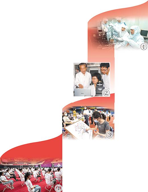 """图①:哈尔滨工业大学超精密仪器技术创新团队。图②:南京大学""""985工程""""——""""物质科学平台""""项目团队。图③:2020年9月1日,一名北京大学新生在入学纪念画上按彩色手印。图④:2020年9月9日,清华大学本科生开学典礼现场。"""