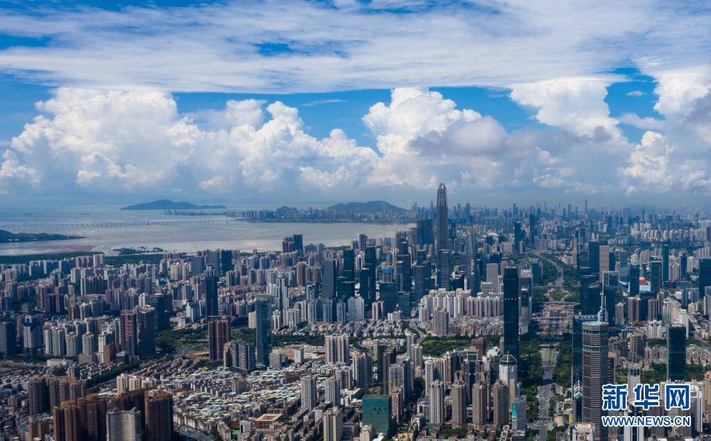 深圳市風光(2020年9月11日攝,無人機照片)。新華社記者 毛思倩 攝