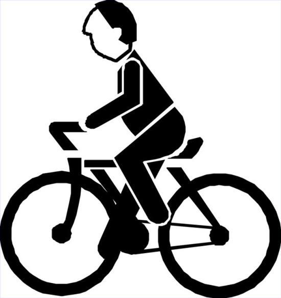 骑自行车简笔画卡通_卡通动物骑自行车简笔画
