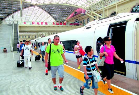 青岛火车站9站台