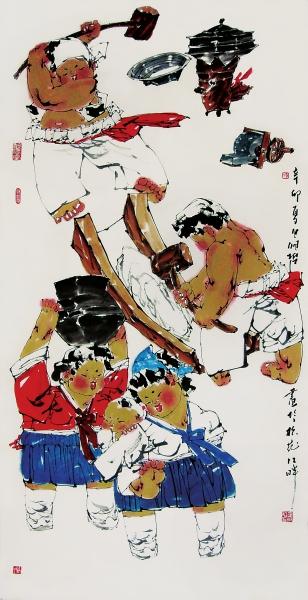 朝鲜传统民族风情画分享展示图片