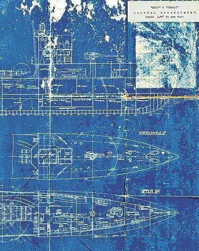 旧日军1艘驱逐舰设计图重现被深埋当防波堤(尸丧4图纸围城图片