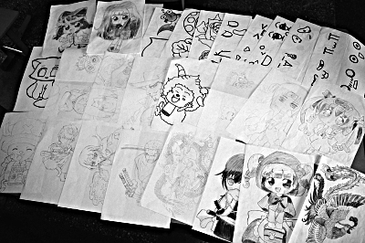 山区支教老师手绘48幅图自制美术课本