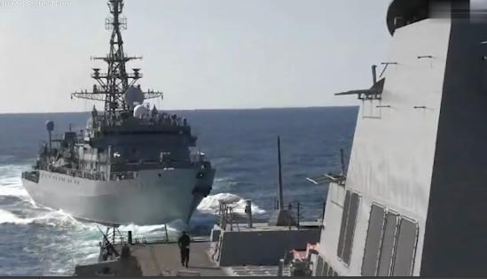 实拍 美俄军舰差点撞上 俄罗斯指责 你挡路了图片 254063 549x315