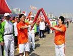 La torche des Jeux asiatiques à Yangjiang