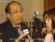 <br><b>CCTV host Tian Wei interviews Zhao Qizheng</b><br><br>