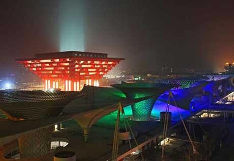 The Shanghai World Expo will start trial operation at the end of April.