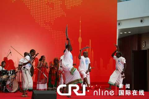 The Republic of Djibouti celebrates its National Pavilion Day at the Shanghai World Expo on Wednesday.