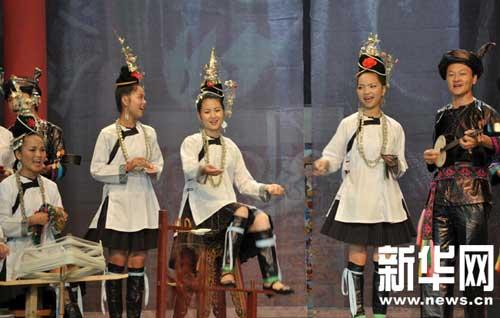 Guizhou Province in the southwest of the country put on a grand display of its arts and culture on Sunday in Shanghai.