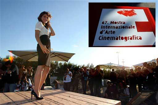 The ambassador of the Venice Film Festival, Italian actress Isabella Ragonese, poses during a photo call on the eve of the opening of the 67th edition of the International Venice Film Festival, in Venice, Italy, Tuesday, Aug. 31, 2010. (AP Photo/Andrew Medichini)