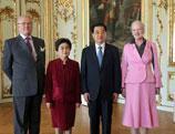 Le président chinois rencontre la reine du Danemark
