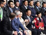 Xi Jinping assiste à un match de football amical entre la Chine et l'Allemagne
