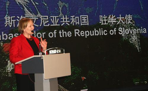 斯洛文尼亚驻华大使玛丽亚·阿尔尼亚致辞