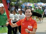 Эстафета огня Азиатских игр в городе Шэньчжэнь